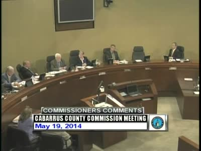 Cabarrus County Commissioners Mtg 05.19.2014