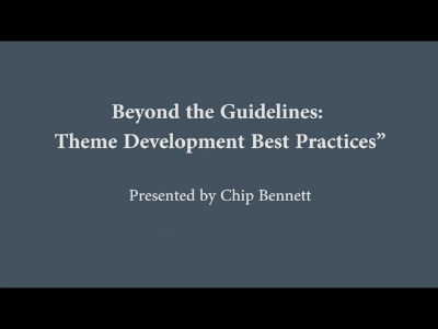 WC Toronto 2011 – Beyond the Guidelines – Theme Development Best Practices