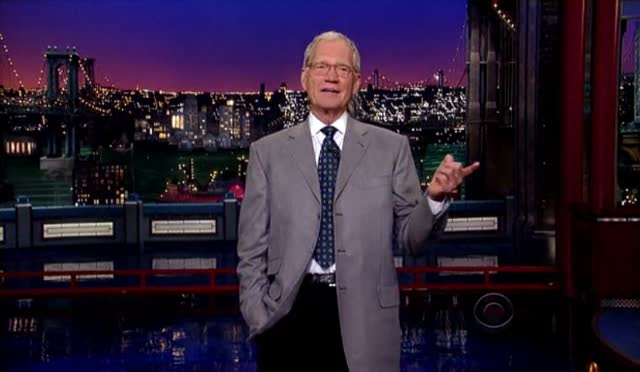 DAVID LETTERMAN MONOLOGUE