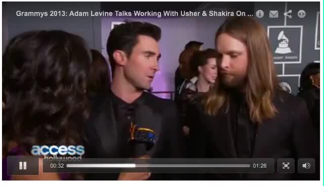 Access Hollywood Grammy 2013 Adam and James interview 10 feb 2013