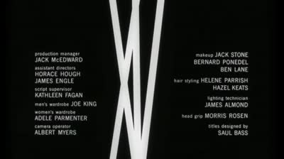 Saul Bass title sequence &#8211; The Man with the Golden Arm (1955)