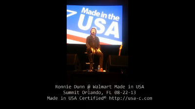Ronnie Dunn @ Walmart Made in USA Summit Made in USA Certified