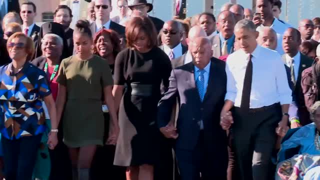 mr and mrs obama and the march 030715_selma