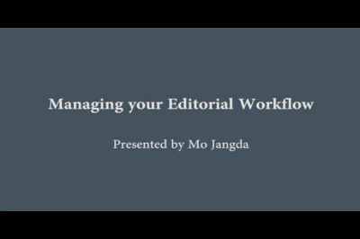 WC Toronto 2011 – Managing Your Editorial Workflow