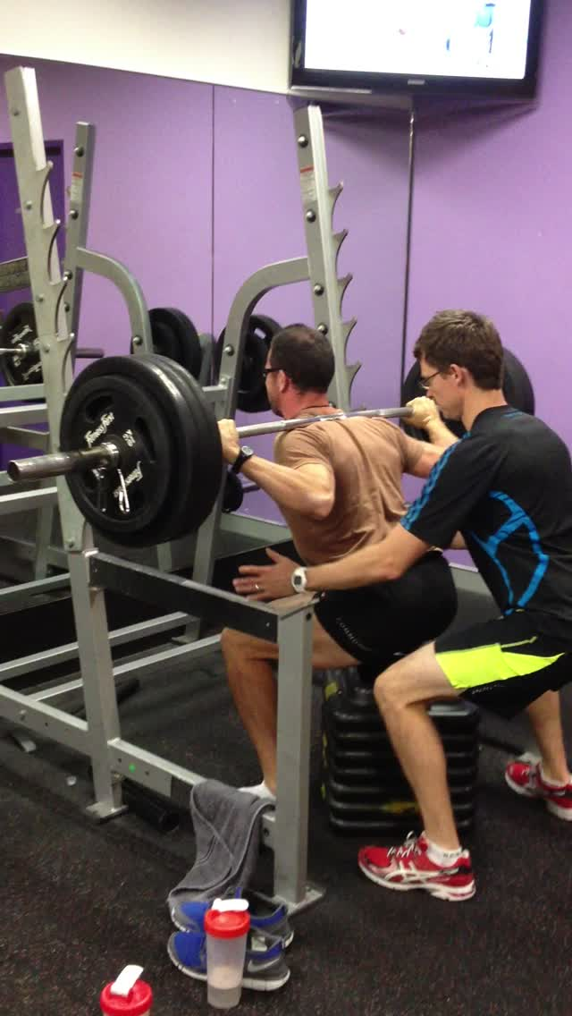 160kg high box squat for 2 reps