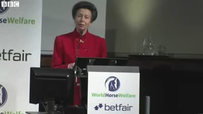 Princess Anne  Eating horsemeat  might improve animal welfare (flv 240p)