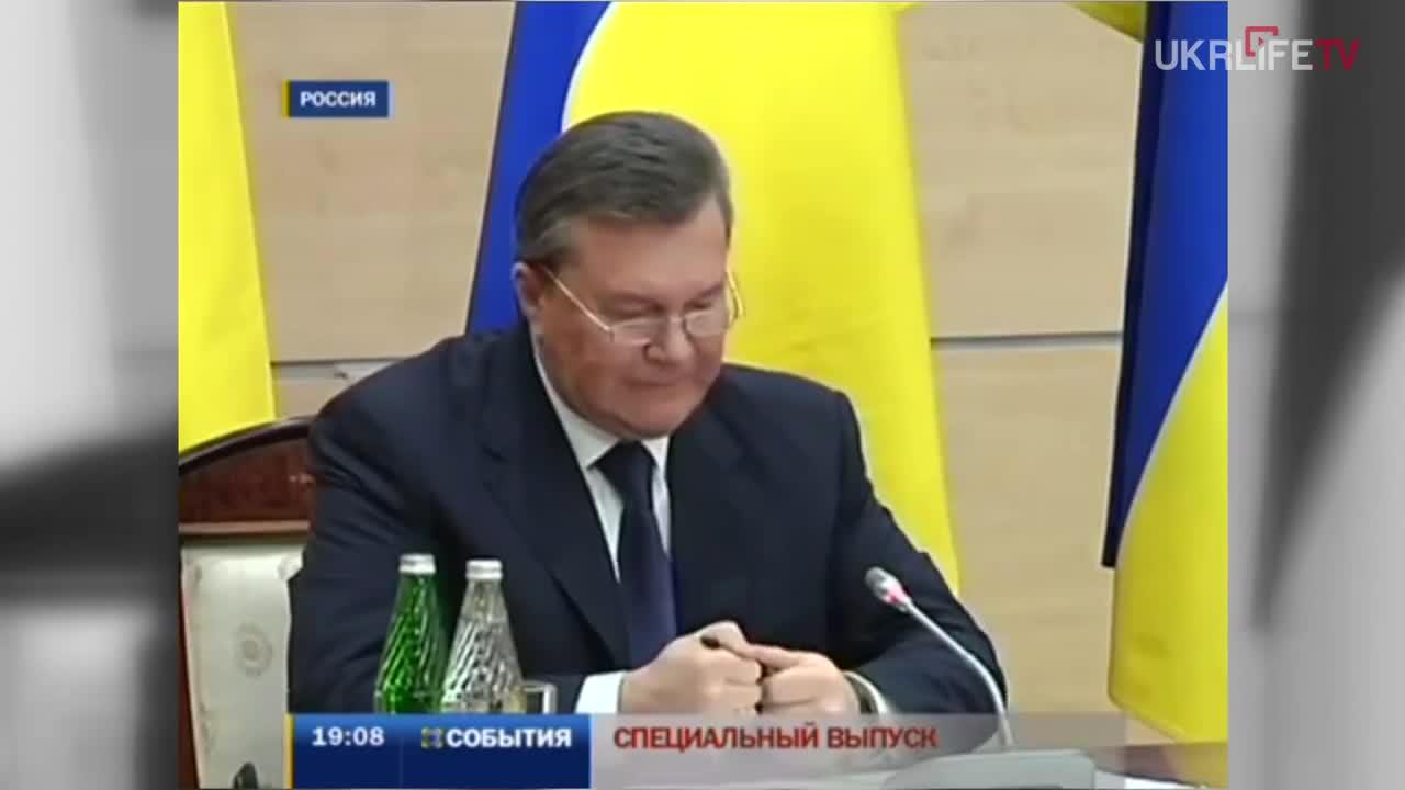 Yanukoych Freaks Out