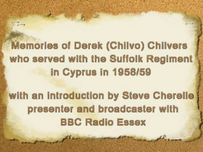 British ex-Servicemans Memories of Cyprus