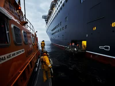 RNLI Torbay – Queen Mary 2 Medevac 04 June 2012