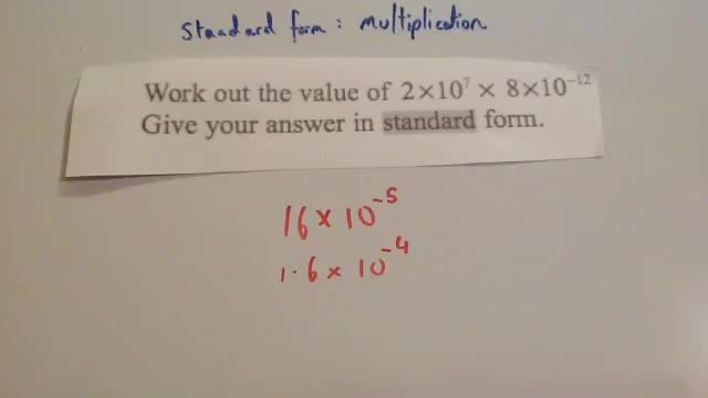 Multiplying standard form &#8211; Corbettmaths