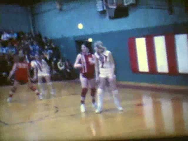 Rolfe (red uniforms) at/vs Pocahontas 1971-72 Sectionals