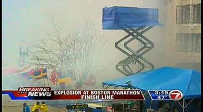 2 explosions rock finish of Boston Marathon