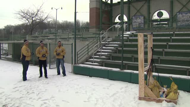 #BrewersSnowballFight