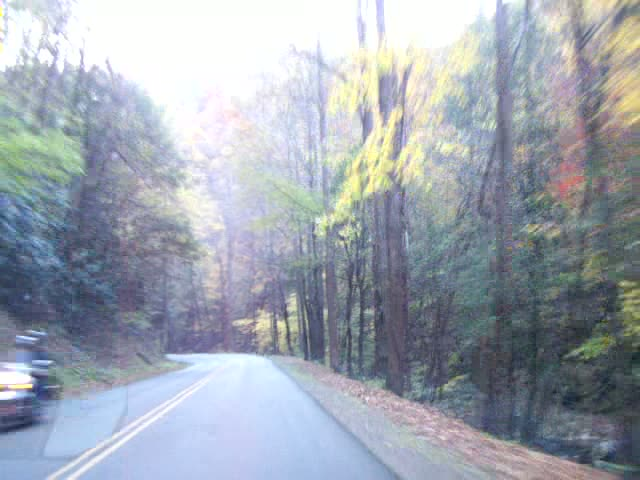 Autumn drive through Cades Cove
