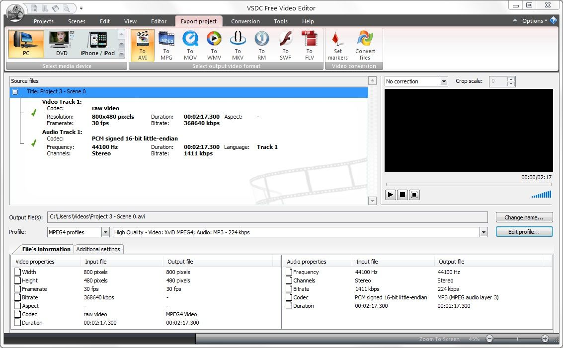 Editor Video Libre How To Export A Video From Vsdc And Save It In A Required Format