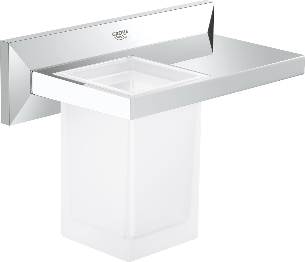 Wandregal Glas Grohe 40503000 Allure Brilliant Wandregal Mit Glas - Chrom | Vieffetrade