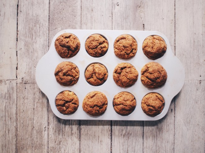 Post-full-moon-blues juicer pulp muffins.