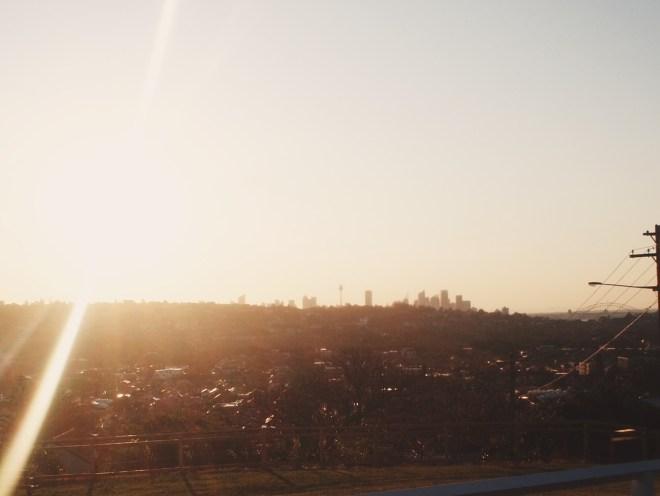 View of Sydney from North Bondi.