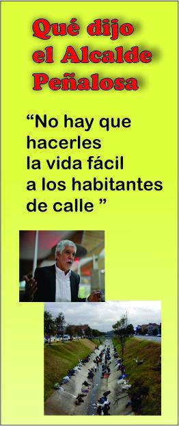Que dijo el alcalde Peñalosa