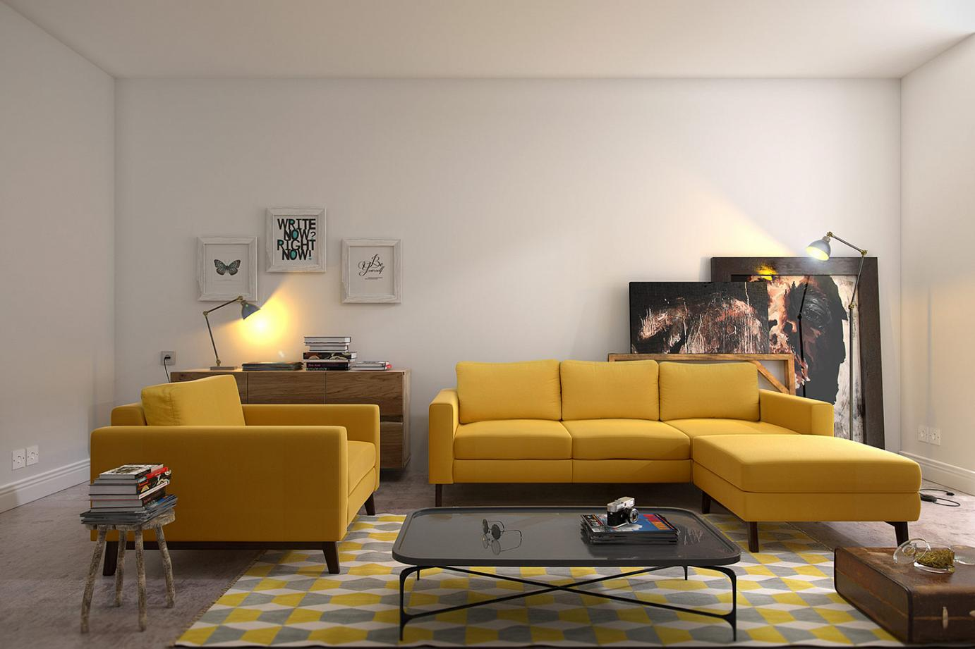 Simple Martinelli Sofa For Small Living Room
