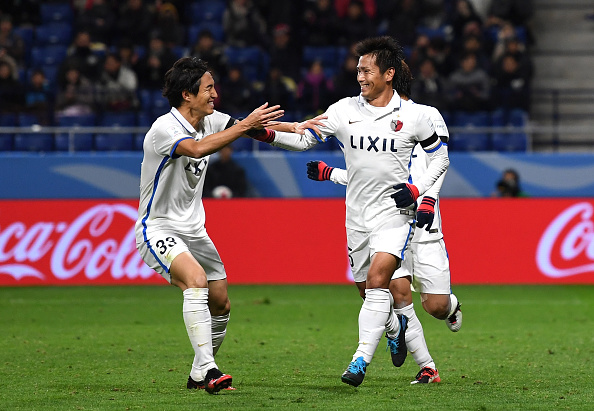 during the FIFA Club World Cup Semi Final match between Atletico Nacional and Kashima Antlers at Suita City Football Stadium on December 14, 2016 in Suita, Japan.