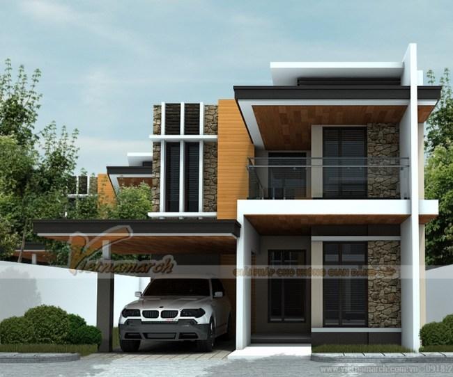 Thiết kế kiến trúc, nội thất nhà phố nhà anh Dương tại Quảng Ninh