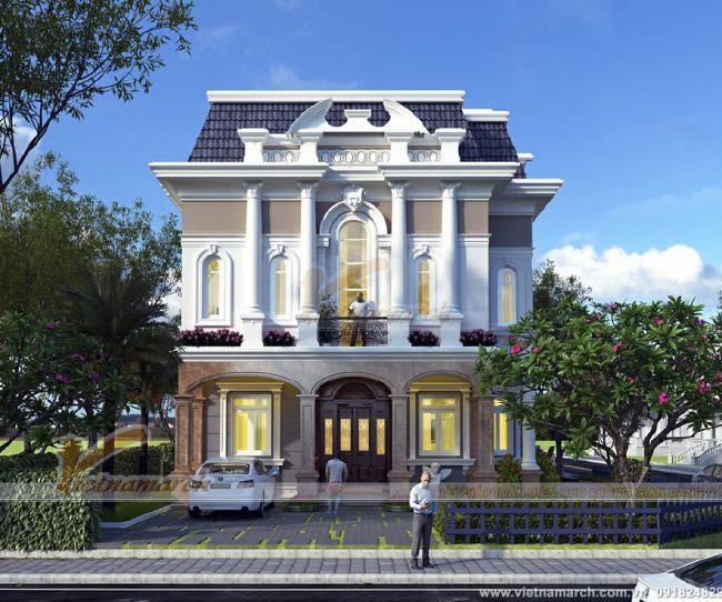 Thiết kế biệt thự tân cổ điển đẹp 3 tầng tại Ninh Bình