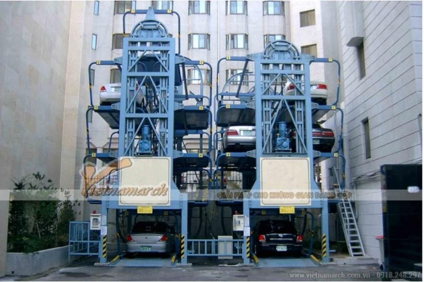 Hệ thống giàn thép đỗ xe kiểu xoay vòng phù hợp cho những nơi có diện tích nhỏ hẹp