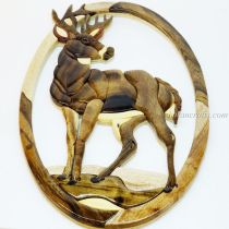 Intarsia wood art painting 7