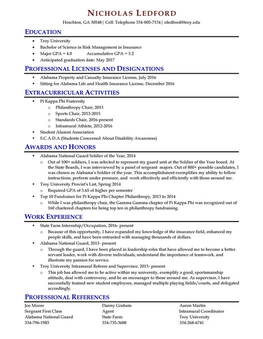 My publications - TROY RESUME BOOK, FALL-16 - Page 34-35 - resume book