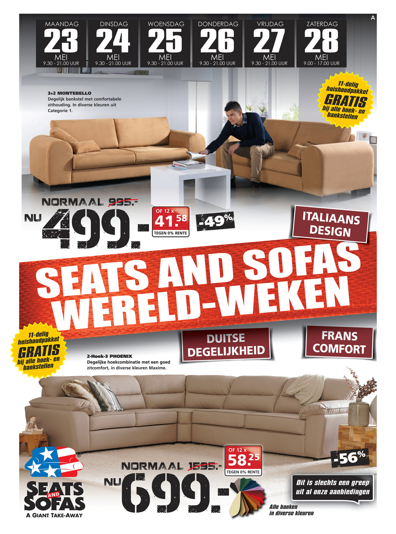 Seats En Sofa Heerlen Folderaanbiedingen Seats And Sofas Folder 23 Tm 28 Mei 2016