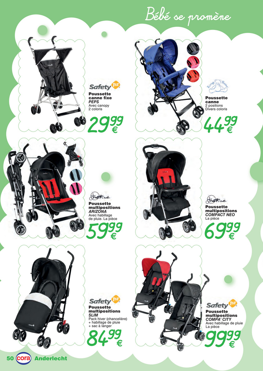 Chanceliere Poussette Safety First Cora Puericulture Baby Anderlecht 08 2017 Fr Page 50 51