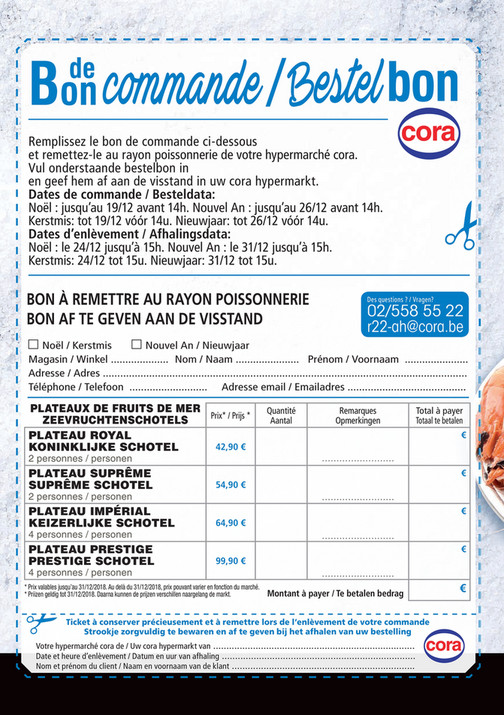 Cora - Bon de commande plateau de mer au cora d\u0027Anderlecht - Page 4