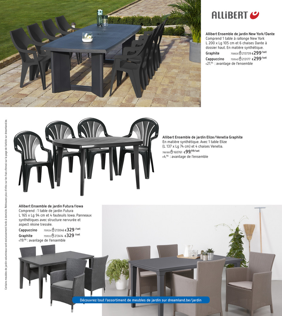 Futura Ensemble Table De Jardin 165 Cm + 4 Fauteuils