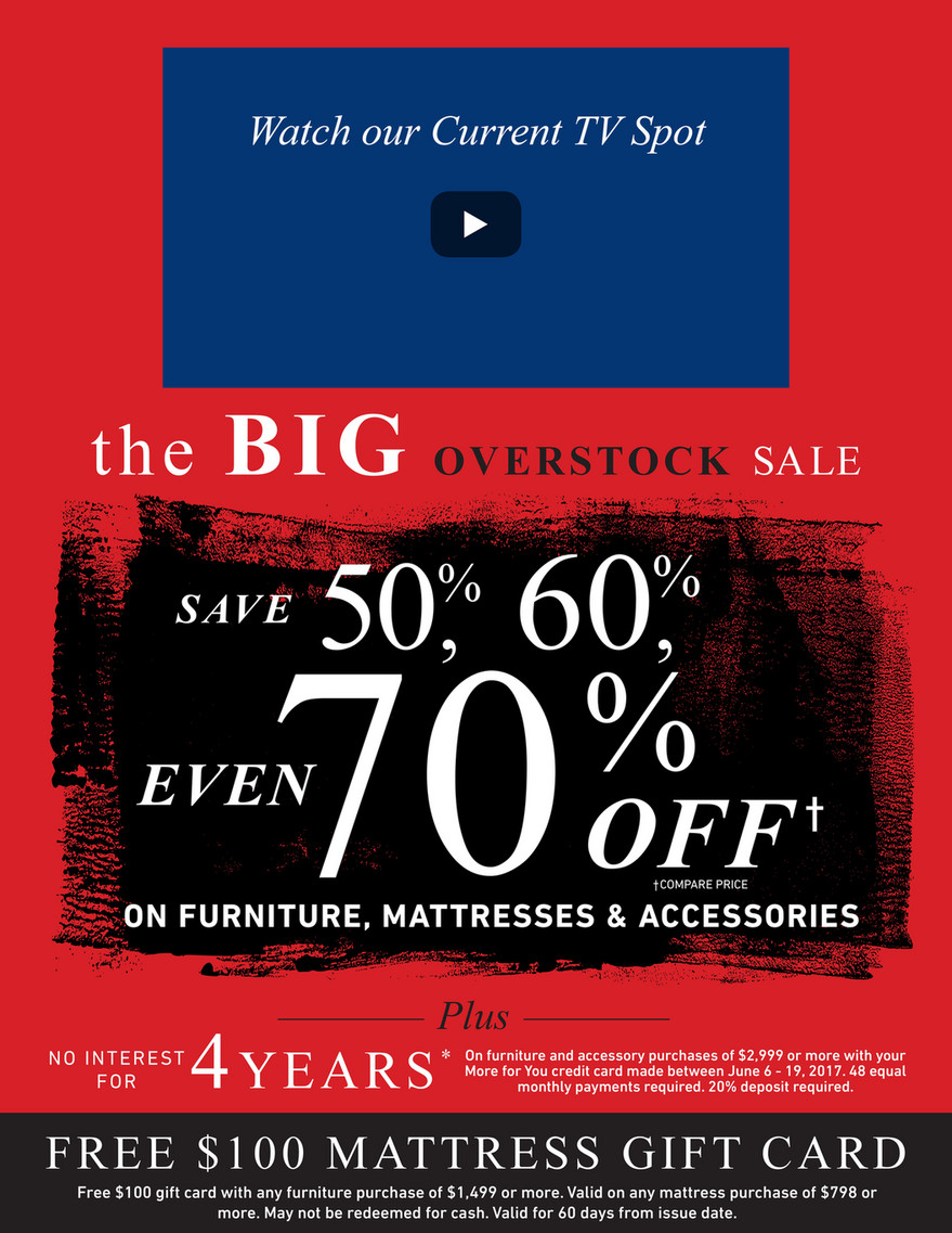 Morris Furniture Company The Big Overstock Sale Page 2 3