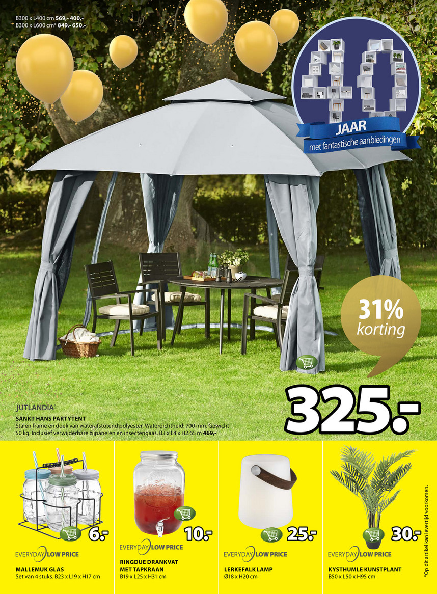 Jysk Tent Folder Jysk Van 15 04 2019 Tot 28 04 2019 Weekpromoties 16