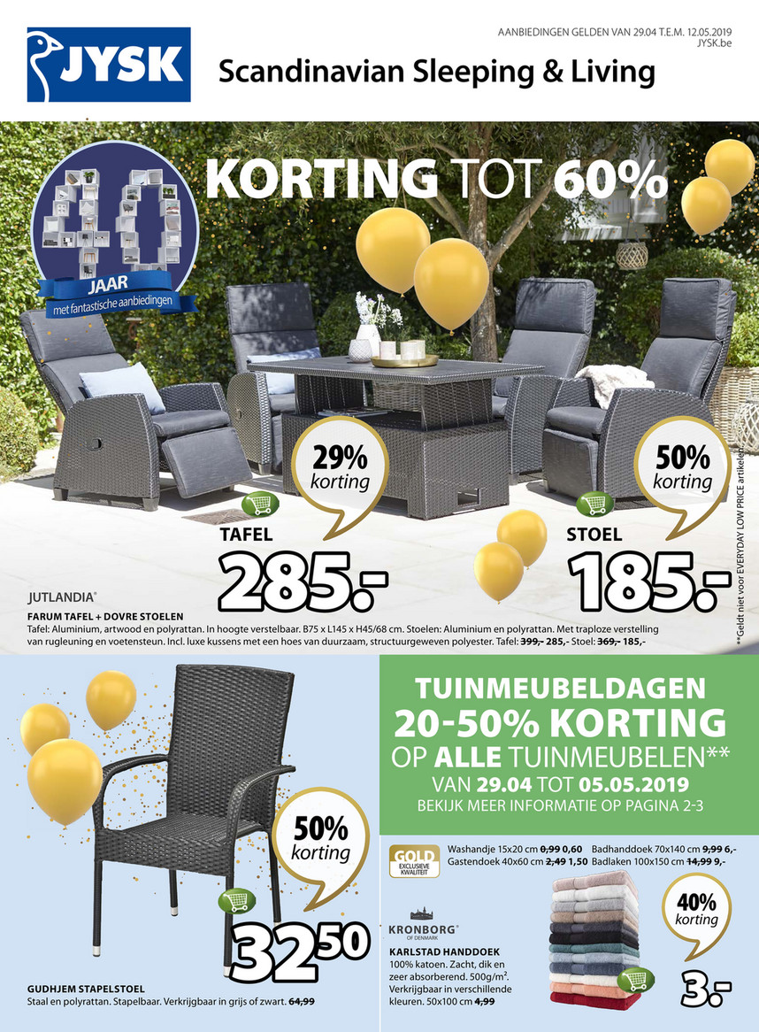 Jysk Korting Folder Jysk Van 29 04 2019 Tot 12 05 2019 Weekpromoties 18