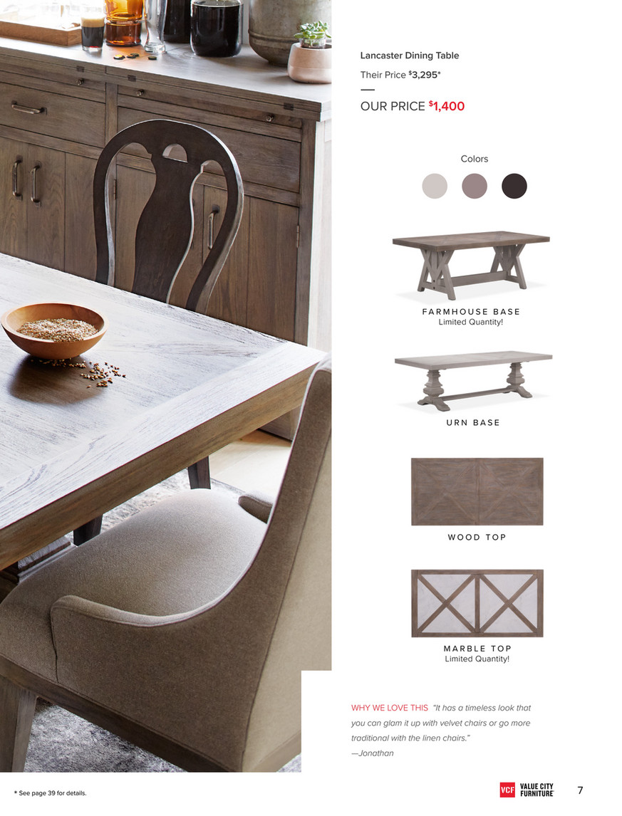 Value City Furniture May 2018 Look Book Page 7