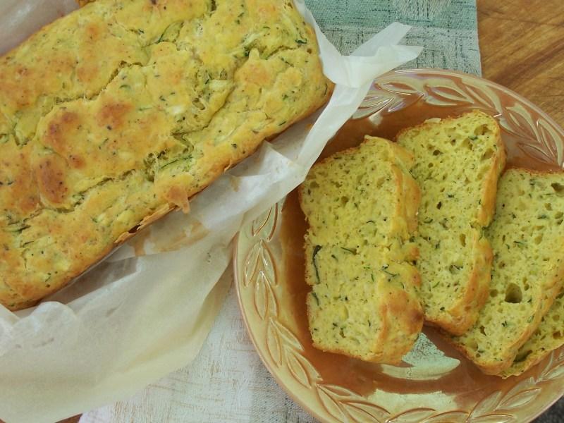Large Of Zucchini Cheesy Bread