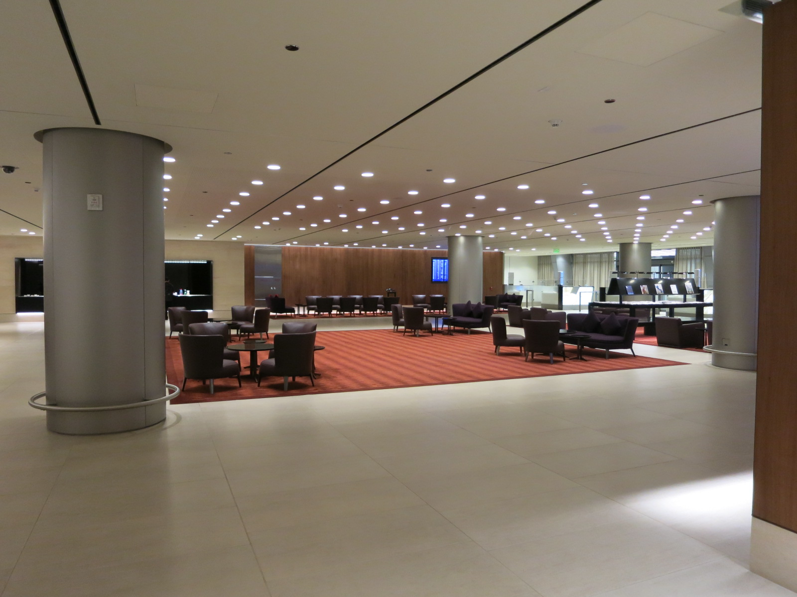 Qatar Airways A380 first class Doha immigration lounge