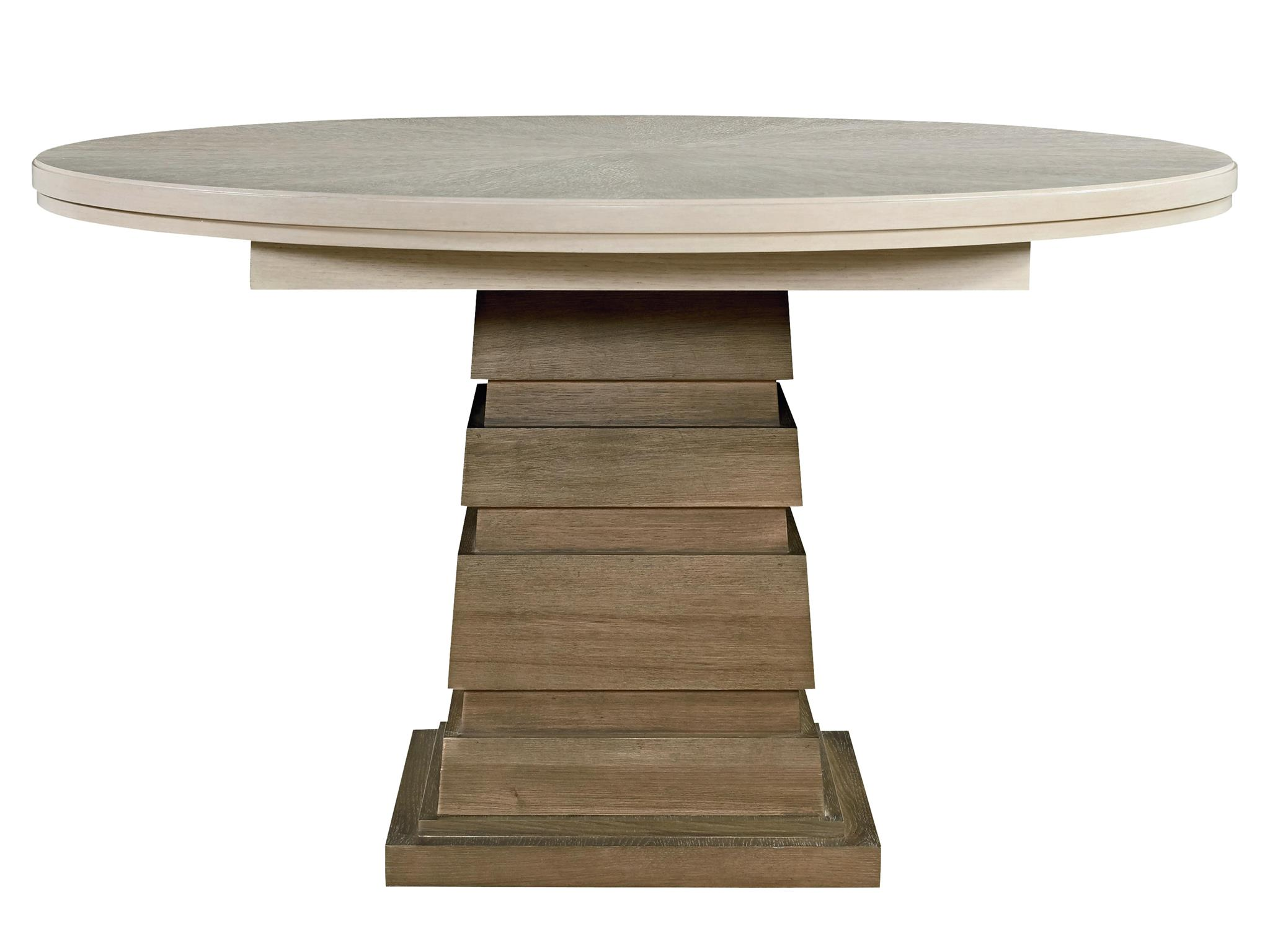 Round Timber Dining Table Universal Furniture Synchronicity Round Dining Table