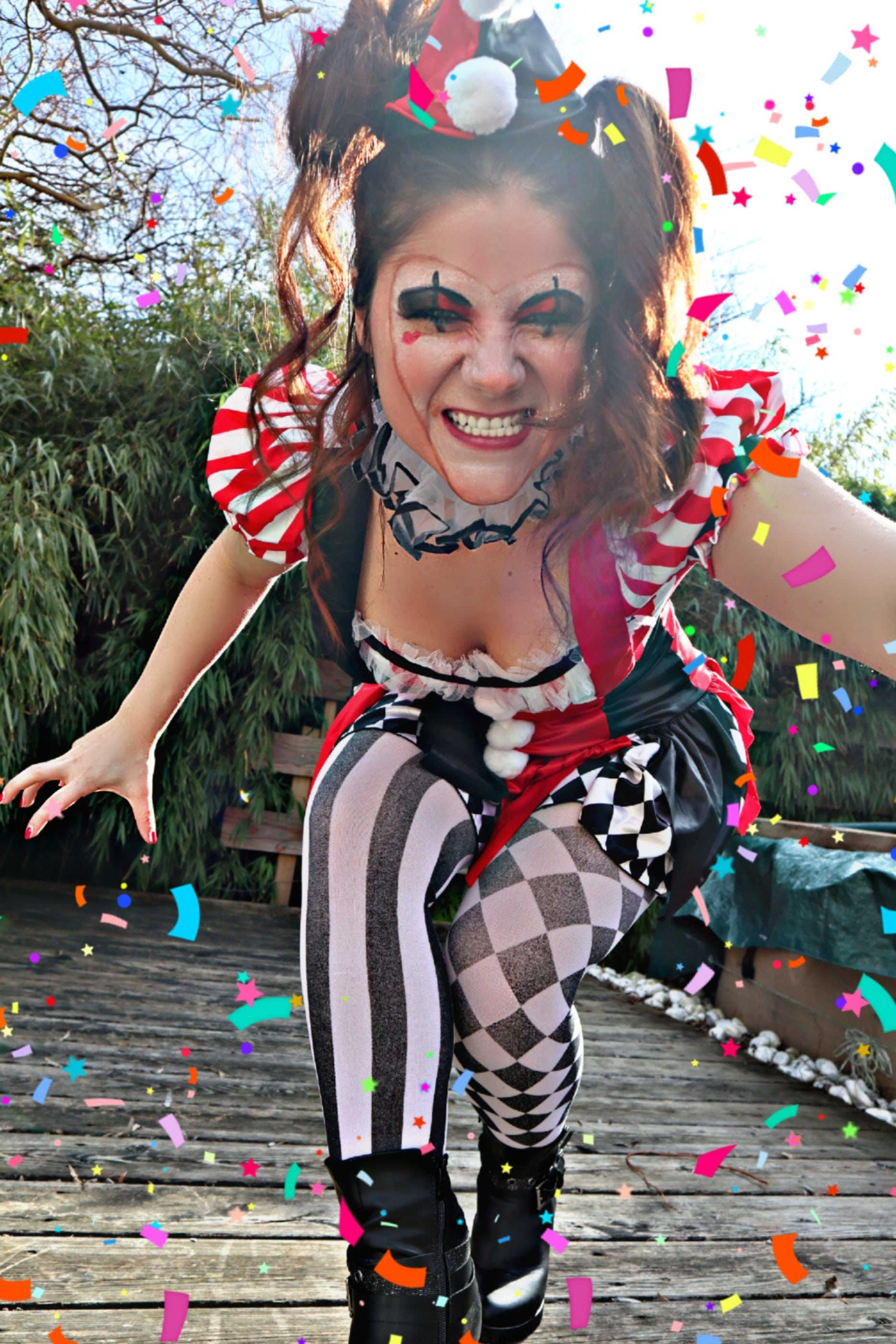 Clown Schminken Suess Mein Clown Harlekina Style Inkl Make Up Tutorial View Of My Life