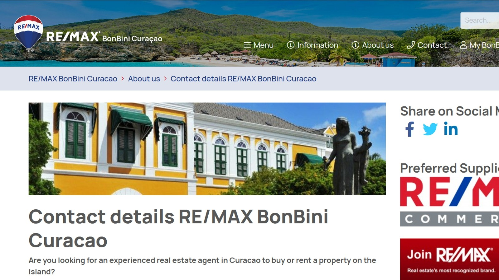 Remax Bonbini Real Estate Curacao Viewr The Global Position On Real Estate