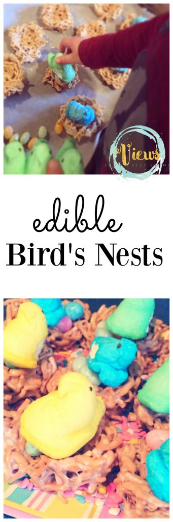 This edible bird's nest treat is the perfect recipe for a kids' Easter party! Bonus, kids can make and decorate them all by themselves!