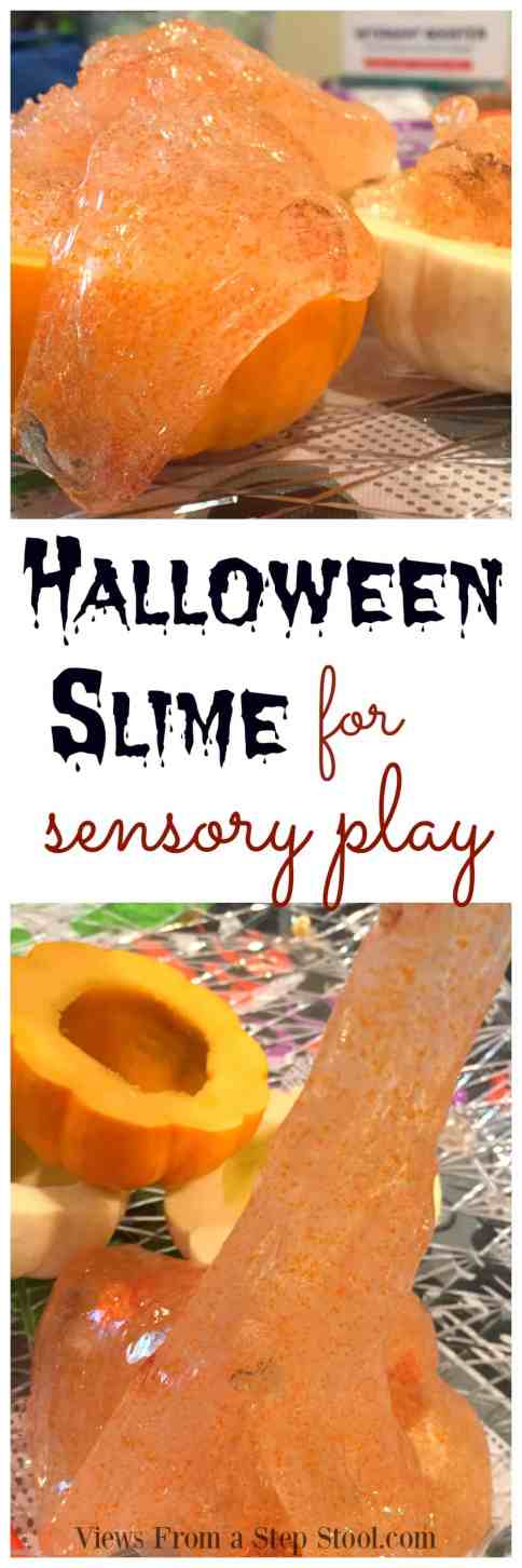 This halloween slime is so fun to make AND play with! The perfect seasonal boredom buster to get your kids excited about Halloween.
