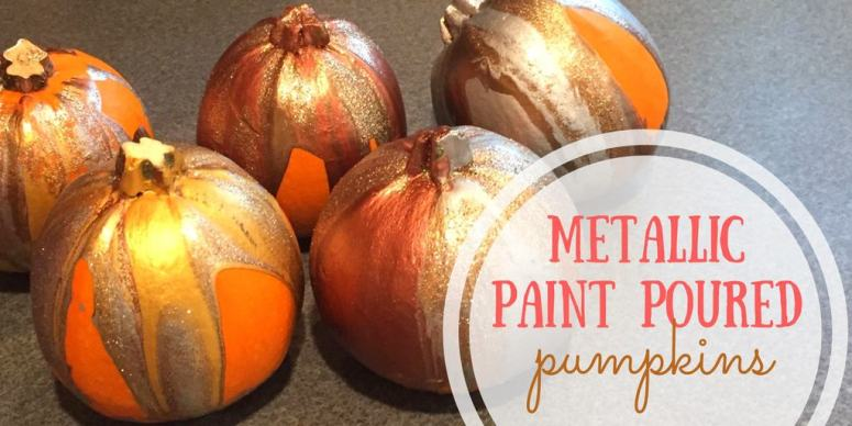 These paint poured pumpkins are the perfect way to incorporate a kid-made activity into your fall decor. The process is so simple yet so beautiful!