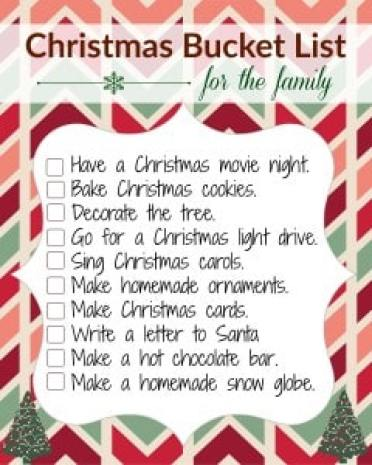 A list of 10 family-fun ideas for the Christmas season. FREE printable to check them off as your go.