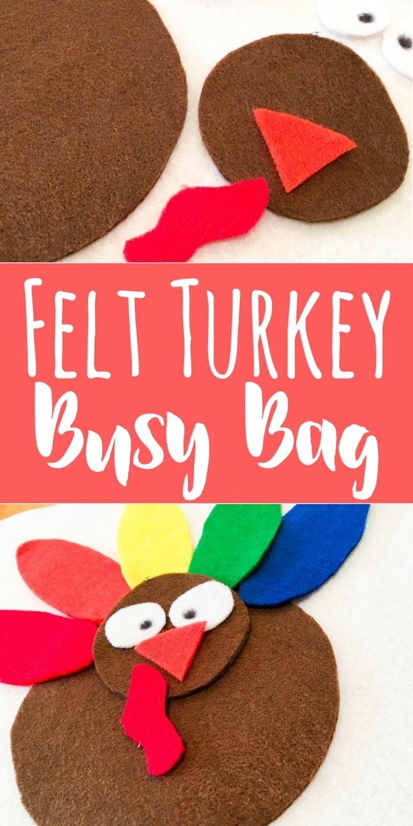 This felt turkey busy bag is easy to make, and fun for play and learning with many ages! Keep this with you whenever you need to keep the kids busy!