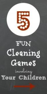 Get your kids involved in helping out and make cleaning fun for your kids! These 5 fun games are the perfect way to involve your children!