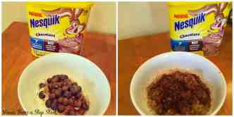 Sprinkle Nesquik chocolate powder on your favorite breakfast for a low-calorie, sweet treat!